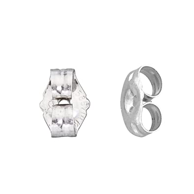 6dd9a2a1e Image Unavailable. Image not available for. Color: 14k White Gold Small Replacement  Earring Backs Pair