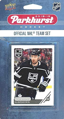 (Los Angeles Kings 2018/19 Upper Deck Parkhurst NHL Hockey EXCLUSIVE Limited Edition Factory Sealed 10 Card Team Set including Anze Kopitar, Jonathan Quick & All the Top Stars & RC's! WOWZZER!)