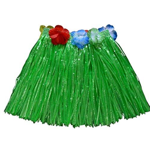 leyouyou520 Girls Hawaiian Hula Grass Beach Skirt Flower Party Dress (Sexy Hula Costume)