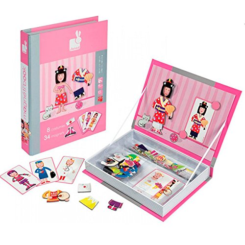 [Janod Girl's Outfits Magnetibook] (France Costume For Girls)