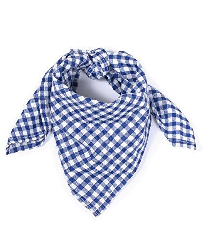 Tracht & Pracht - Herren Baumwolle - Trachtentuch Nickituch Karo - Blau