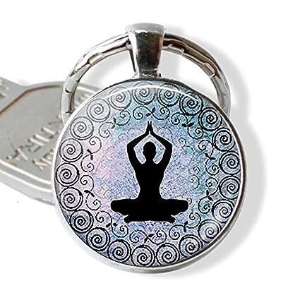 7 Chakra Yoga Om Símbolo Llavero Colgante Hombres Mujeres ...
