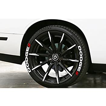 dodgewhite tire lettering kit easy glue on decals for your tires free 2oz touch up cleaner 19 211 4 decals