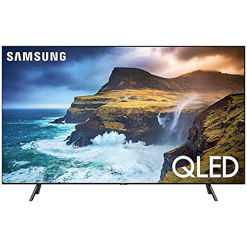 Samsung QN55Q70RAFXZA Flat 55-Inch QLED 4K Q70 Series Ultra HD Smart TV with HDR and Alexa Compatibility (2019 Model) (Tv Hub Smart Screen Flat)