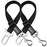 OMorc Dog Seat Belt, [2 Pack] 16-25 Inch Adjustable, Nylon Material - Black
