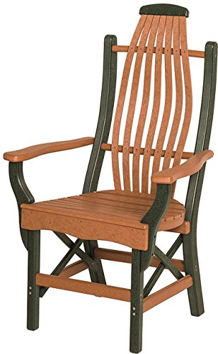Poly Lumber Bentwood Style Arm Chair in Purple - 7 Premium Colors - Amish Made ()
