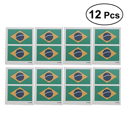 Cheap 12 Pcs Country Flag Tattoo Stickers Fashion Sports Body Art Tattoo Decals for 2018 World Cup (Brazil) free shipping