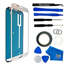 MMOBIEL Front Glass for Samsung Galaxy Note 2 (White) Display Touchscreen incl 12 pcs Tool Kit / Pre-cut Sticker / Tweezers/ Adhesive Tape / Suction Cup / Metal Wire / Microfiber cleaning cloth