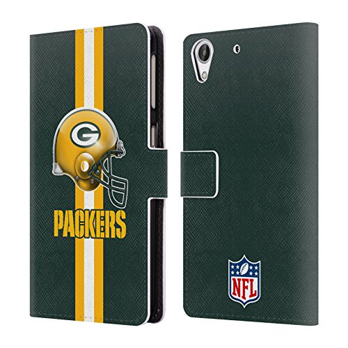 Official NFL Helmet Green Bay Packers Logo Leather Book Wallet Case Cover For HTC Desire 626 by Head Case Designs