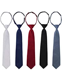 Pre-tied Adjustable Neck Strap Tie Boys Baby Necktie Value Set of 5
