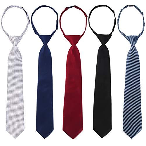 kilofly Pre-tied Adjustable Neck Strap Tie Boys Baby Necktie Value Set of -
