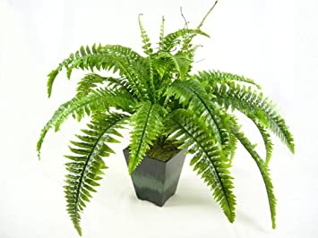 55cm Potted Large Artificial Silk Boston Fern Bush Plant House