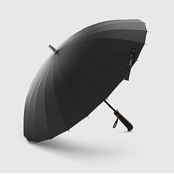 Paraguas largo de la manija de los hombres negocio simple retro del bosque del viento Los