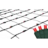 Northlight 4' x 6' Red LED Net Style Christmas Lights - Green Wire