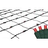 christmas bush lights - 4' x 6' Red LED Net Style Christmas Lights - Green Wire