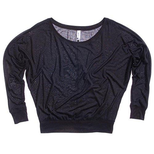 Bella Canvas - Camiseta de manga larga - para mujer negro