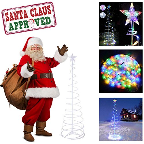 GC Global Direct 6ft/5ft Clear LED Lighted Spiral Christm...