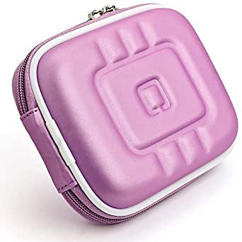 VG Compact (M) Travel Edition Semi Hard Case w/ Removable Carbineer (Purple EVA) for Panasonic Lumix DMC-ZS30 / DMC-TZ40 / DMC-TS5 / DMC-FT5 / DMC-SZ3 / DMC-FH10 / DMC-F5 / DMC-ZS25 / DMC-TZ35 / DMC-TS25 / DMC-FT25 / DMC-SZ5 / DMC-ZS20 / DMC-TZ30 / DMC-TS20 / DMC-FT20 / DMC-TS4 / DMC-FT4 / DMC-ZS15 / DMC-TZ25 / DMC-SZ7 / DMC-SZ1 / DMC-3D1 / DMC-FX90 / DMC-LS5 / DMC-GF3 Point & Shoot Digital Cameras Point & Shoot Digital Cameras