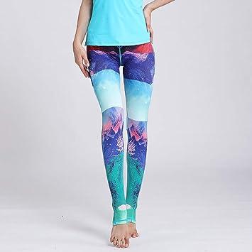 MJXVC Pantalones de Yoga Imprimir Pantalones Deportivos de ...