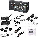 RingBuu Motorcycle Helmet Bluetooth Intercom - Waterproof 6 Riders Communication System