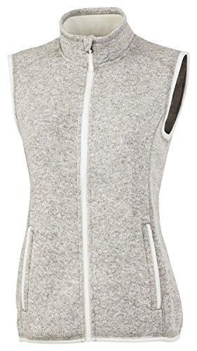 Charles River Apparel Women's Pacific Heathered Sweater Fleece Vest, Light Grey, S