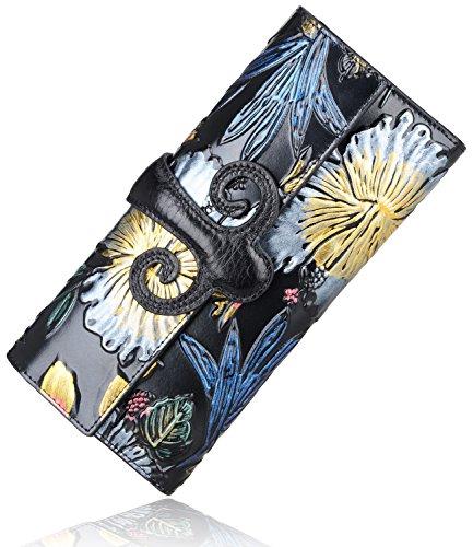 pijushi-designer-women-genuine-leather-wallet-luxury-clutch-travel-purse-91788d-3-black-floral