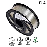 Lee Fung 1.75mm PLA 3D Printing Filament Dimensional Accuracy +/- 0.05 mm 2.2 LB Spool DIY Material Tools (Transparent)