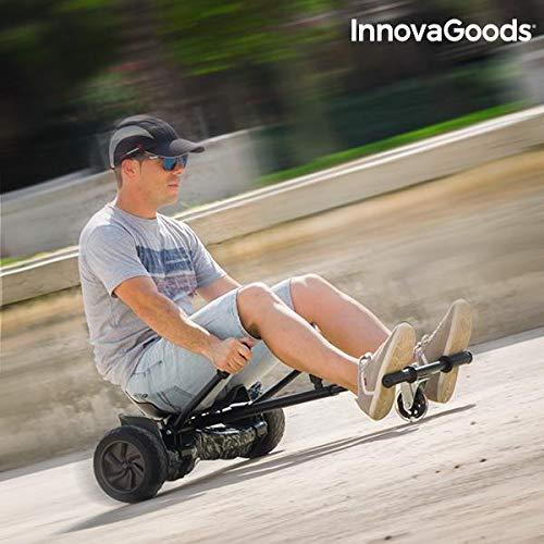 InnovaGoods hoverkart Scooter mit Sattel, Schwarz, Einheitsgröße Einheitsgröße IGS IG811655
