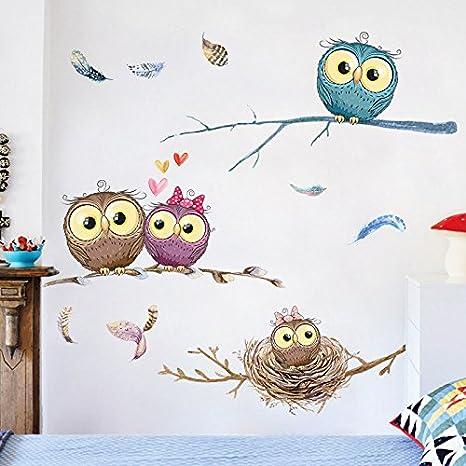 ALLDOLWEGE Cute Cartoon Sticker Schlafzimmer Wohnzimmer Wand ...