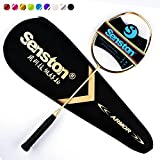 Senston N80 Graphite Single High-grade Badminton Racquet, Professional Carbon Fiber Badminton Racket, Carrying Bag Included Gold color