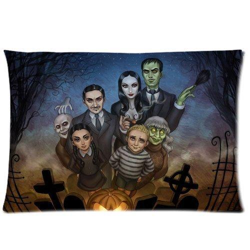 Pillowcase Custom 2030 Pillow Case Soft Bedding Decoration Cartoon Comic Addams Family Halloween Horror Tomb Ghost Print