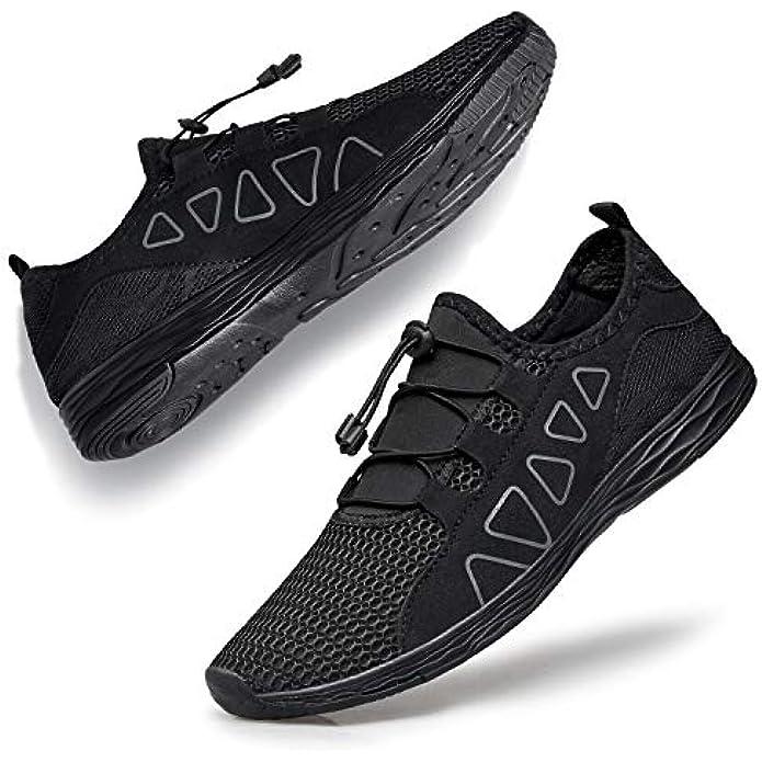 vibdiv Women's Water Shoes Quick-Drying - Aqua Shoes Outdoor for Walking Swimming Work Lightweight Beach Sneakers