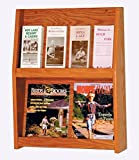 Wooden Mallet Slope 8 Pocket Literature Display Rack 2Hx4W Medium Oak electronic consumers