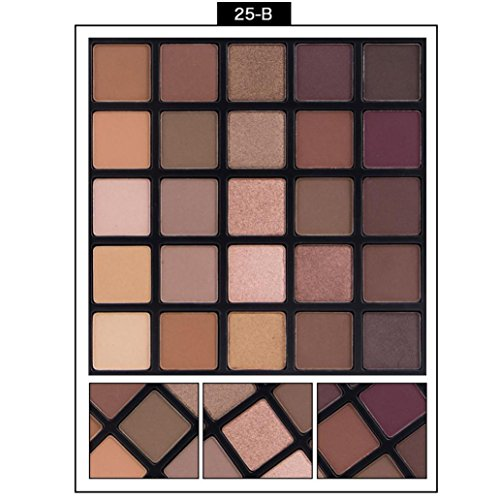 Cosmetic Matte Eyeshadow, Cream Eye Shadow Makeup Palette Shimmer Set 25 Color
