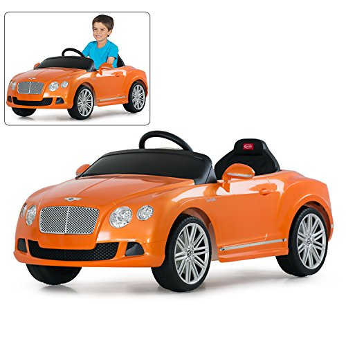 Rastar Bentley Ride On Car With Remote Control For Kids | 12V Power Battery GTC Official Licensed Kid Car To Drive With 2.4G Radio Parental Control Orange