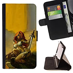 Jordan Colourful Shop - Red Sword Hero Sexy Redhead Yellow For Apple Iphone 6 PLUS 5.5 - Leather Case Absorci???¡¯???€????€???????&bd