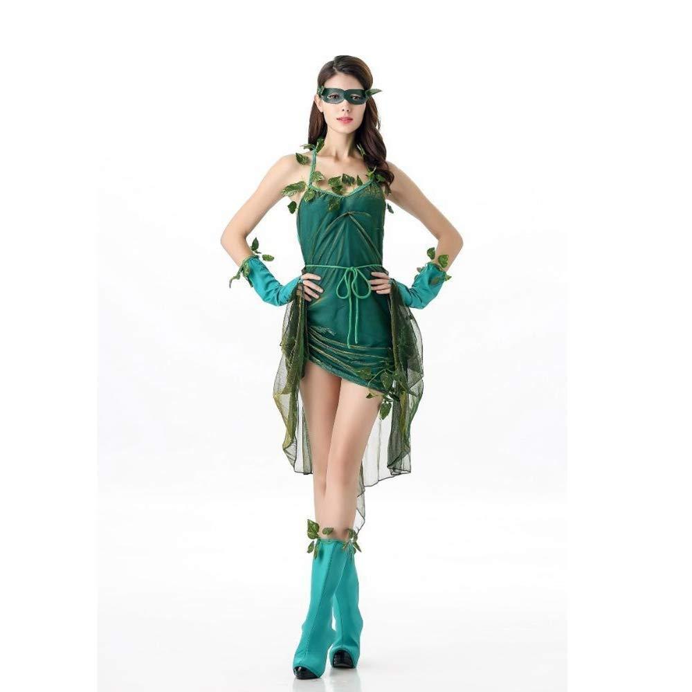 Shisky Cosplay kostüm Damen, Halloween Rolle Spielen Grün Elf Baum Dämon Kostüm Party Party Kostüm Kostüm Leistung