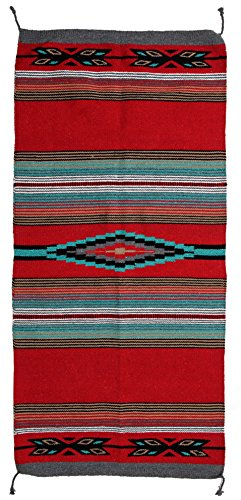 El Paso Designs Beautiful Hand-Woven Serape Area Rugs Featuring Feather Hawkeye Pattern. Three Sizes to Choose From. ()