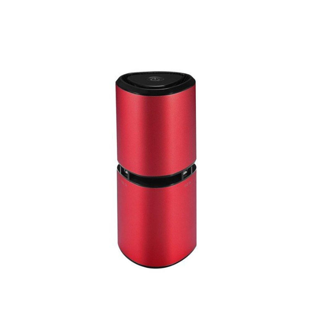 LIRONG Anion Car Air Purifier, Usb Car Purifier Intelligent Odor Bar Oxygen Bar Haze In Addition To Formaldehyde,Red