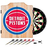 NBA Detroit Pistons Wood Dart Cabinet Set