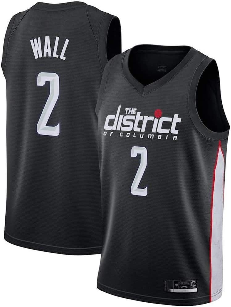 Washington Wizards 2# Wall Jerseys Transpirable Bordado Baloncesto Swingman Jersey TAMA/ÑO: S-XXL xisnhis Camisetas NBA,Camiseta de Baloncesto para Hombre,Mujeres Jersey Hombre