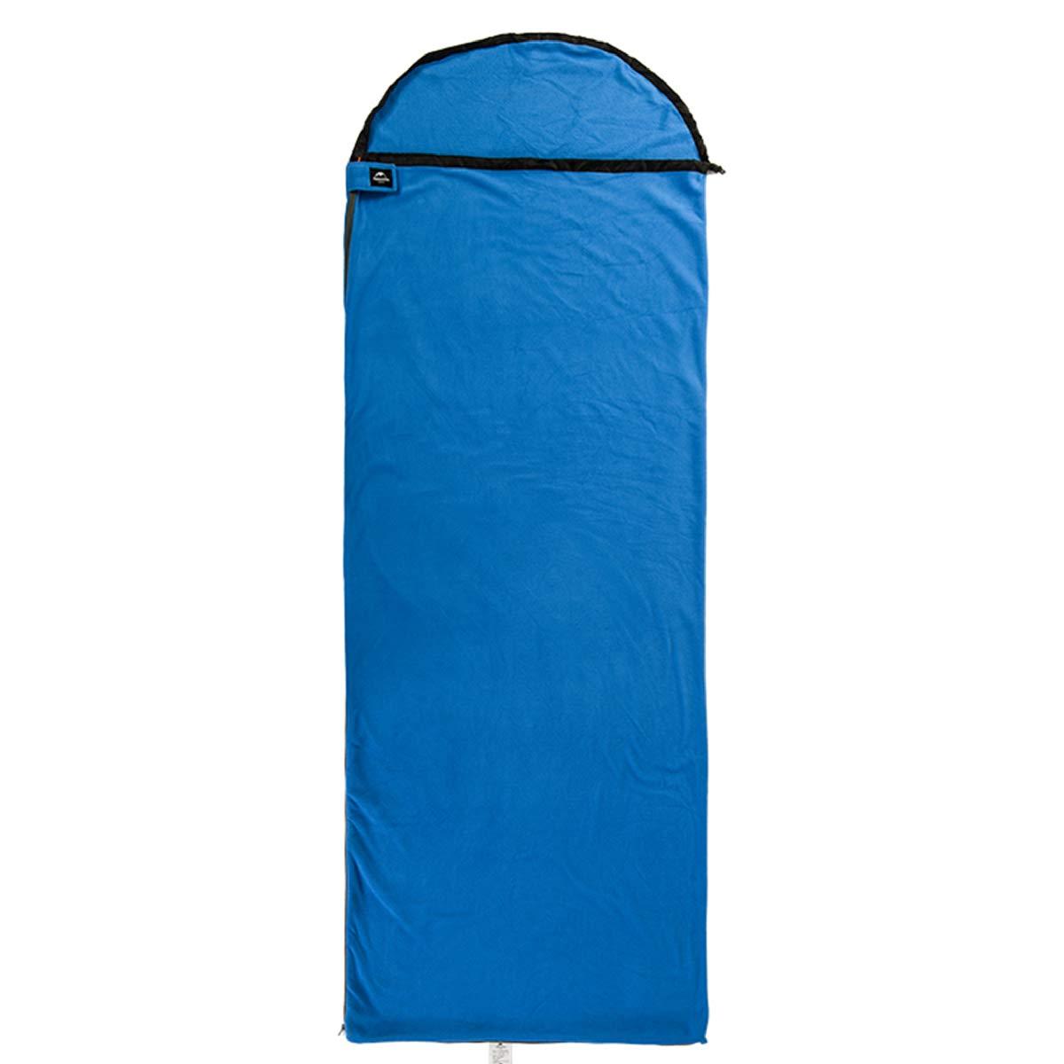 TRIWONDER 寝袋 フリース 夏用 コンパクト 軽量 封筒型 シュラフ スリーピングバッグ アウトドア 登山 防災 B07BHFP6Y3 ブルー