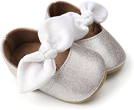 51hPkvzF3OL. AC - Antheron Baby Girls Mary Jane Flats With Bowknot Non-Slip Toddler First Walkers Princess Dress Shoes