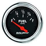 Auto Meter 2514 Traditional Chrome Electric Fuel Level Gauge