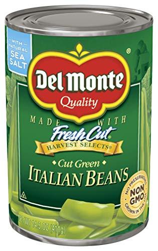 Del Monte Harvest Selects Cut Green Italian Beans, 14.5 oz - Italian Green Beans