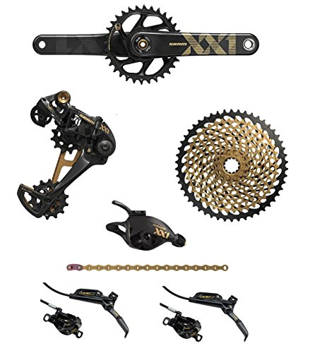 SRAM XX1 Eagle Dub 7-Piece Groupset Including Disc Brakes (Black/Gold, 175mm Boost)