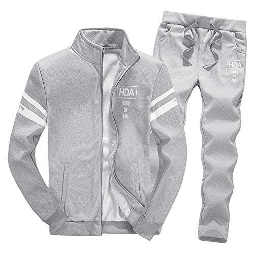 Tracksuit Sets,NRUTUP Mens Shirts Clearance Zipper Leisure Suit