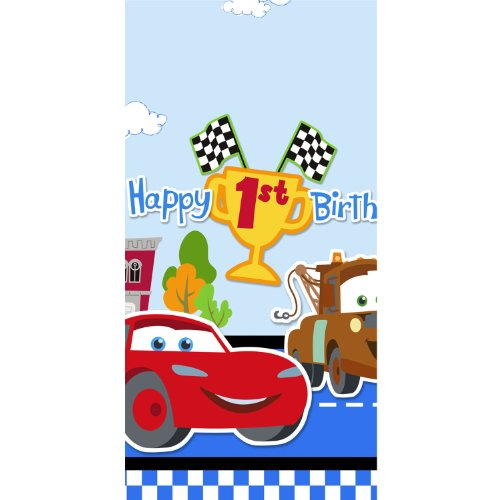 Disney 1st Birthday Cars Plastic Tablecover Party Accessory