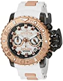 Invicta Men's 'Sea Hunter' Swiss Quartz Stainless Steel and Silicone Casual Watch, Color:White (Model: 20474)