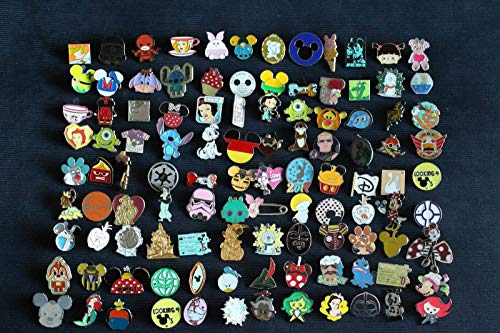 Disney Pin Trading Lot of 40 Assorted Pins - No Doubles - Tradable - Brand - Disney Pins